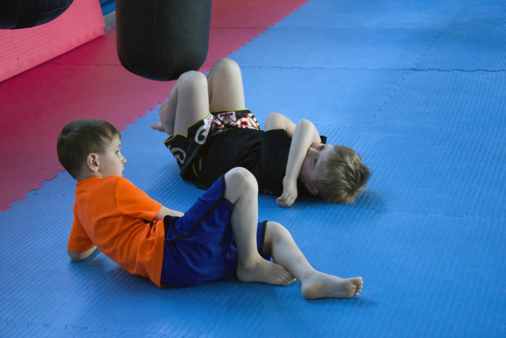 Vorschulkinder vor dem Training